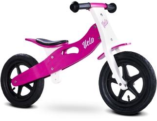 Toyz velo purple drewniany rowerek biegowy pompowane koła + prezent 3d