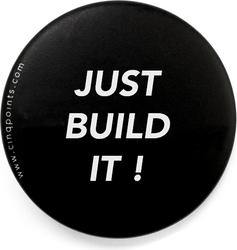 Przypinka czarna Badge Just Build It