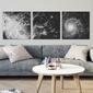 Dark galaxy - komplet trzech obrazów na płótnie , wymiary - 80cm x 80cm 3 sztuki