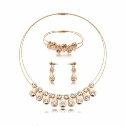 ZESTAW biżuterii ZŁOTY łezki ELEGANCKI