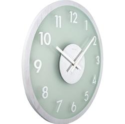 Zegar na ścianę frosted wood nextime biały 3205 wi