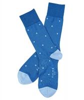 Stylowe jasnoniebieskie bawełniane skarpety falke dot w grochy rozmiar 43-46
