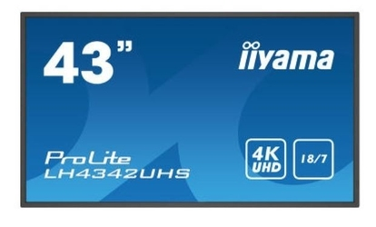 Iiyama monitor wielkoformatowy  42.5 cala lh4342uhs-b1 4k,187,sdm,ips,lan,pion,500cdm2,os8.0