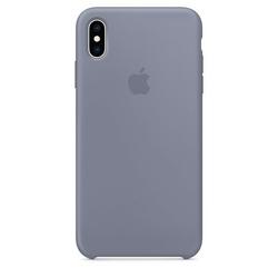 Apple Etui silikonowe iPhone XS Max - lawendowa szarość