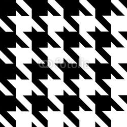 Obraz na płótnie canvas czteroczęściowy tetraptyk bezszwowe nowoczesny wzór houndstooth