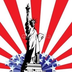 Naklejka samoprzylepna statua wolności