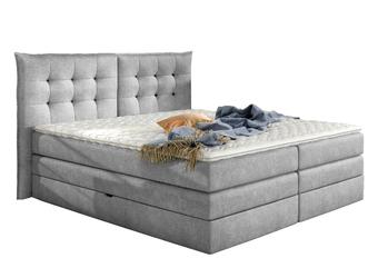 Łóżko kontynentalne funky 180x200 cm jasnoszare