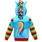 Błękitna bluza dla dziewczynki z tęczowymi rękawami my little pony 714