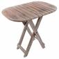 Stolik drewniany składany stołek vintage dł. 50 x szer. 38 x wys. 50 cm