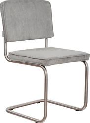 Zuiver krzesło ridge brushed rib szare 32a 1100089