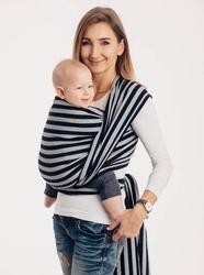Chusta do noszenia dzieci, splot skośno-krzyżowy, tkanina 100 bawełna, światła i cienie, rozmiar m