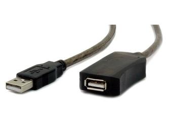 Gembird Przedłużacz USB 2.0 typu AM-AF 10m aktywny czarny