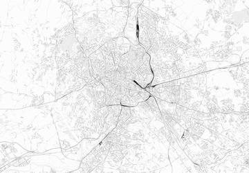 Rzym - mapa w odcieniach szarości - fototapeta