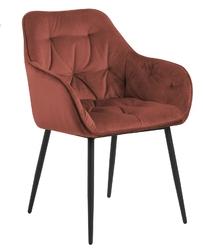 Krzesło brooke vic coral 76ac - czerwony