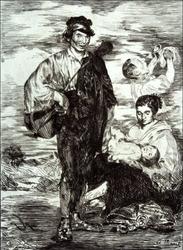 The gypsies les gitanos, edouard manet - plakat