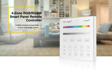 Milight - 4-zone rgbrgbw smart panel remote controller - t3