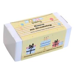 Box z kawą na urodziny – zestaw wyselekcjonowanych kaw aromatyzowanych, 20 smaków po 10g