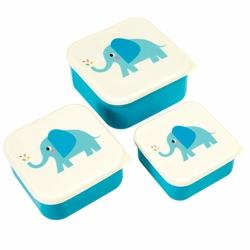 Pudełka na przekąski 3 szt., Słoń Elvis, Rex London - słoń elvis