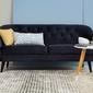 Sofa denver actona granatowa pikowana welur