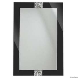 Gieradesign :: lustro łazienkowe apollo fala prostokątne czarne 60x90 cm