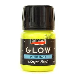 Farba akrylowa GLOW 30 ml - limetkowa - LIMA