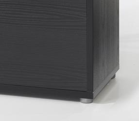 Regał do biura 2-drzwiowy prima czarny
