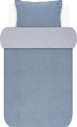 Pościel batystowa marc opolo niebieska 135 x 200 cm z poszewką na poduszkę 80 x 80 cm