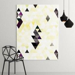 Modny obraz na płótnie - yellow triangle design , wymiary - 80cm x 120cm
