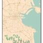 Dublin mapa kolorowa - plakat wymiar do wyboru: 61x91,5 cm