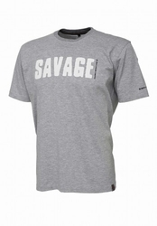 Koszulka savage gear tee - light grey melange l