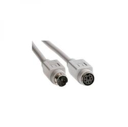 Kabel do klawiatury PS2, PS2 M- PS2 F, 2m, szary, Logo, blistr