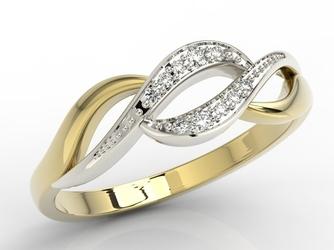Pierścionek ze złota z diamentami bp-17zb - wysyłka w następny dzień roboczy - sprawdź dostępność