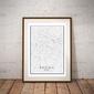 Padwa, włochy mapa czarno biała - plakat wymiar do wyboru: 30x40 cm