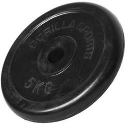 5 kg obciążenie żeliwne gumowane talerz 30 mm gorilla sports