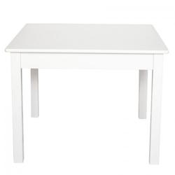 Biały kwadratowy stolik