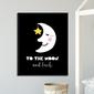 To the moon and back - plakat dla dzieci , wymiary - 70cm x 100cm, kolor ramki - czarny