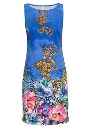 Sukienka z nadrukiem bonprix niebieski wzorzysty