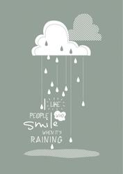 Raining - plakat