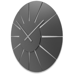 Zegar ścienny extreme l calleadesign orzech włoski 10-326-85