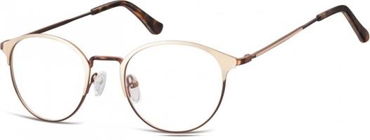 Oprawki okularowe lenonki damskie stalowe sunoptic 973c złoto-kawowe