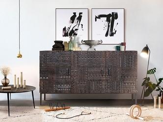 Drewniana komoda chichita ręcznie rzeźbiona  szer. 150 cm