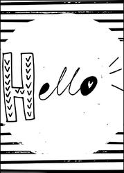 Hello - plakat wymiar do wyboru: 20x30 cm