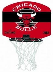 Mini tablica do koszykówki Spalding NBA Chicago Bulls do biura dla dzieci