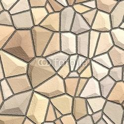 Plakat na papierze fotorealistycznym kamienie tekstury w odcieniach żółtego