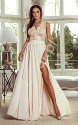 Długa suknia wieczorowa - beżowa juliette