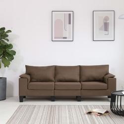 Vidaxl 3-osobowa sofa, brązowa, tapicerowana tkaniną