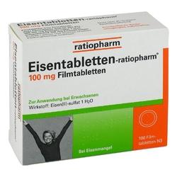 Eisentabletten ratiopharm 100 mg filmtabl.