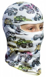 Ocieplana dziecięca kominiarka termoaktywna 3d - monster truck snow