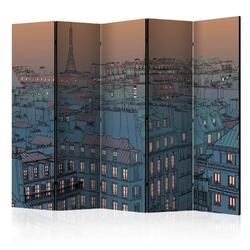 Parawan 5-częściowy - dobry wieczór paryżu ii room dividers