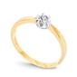 Staviori pierścionek z diamentem z żółtego i białego złota 0,750.